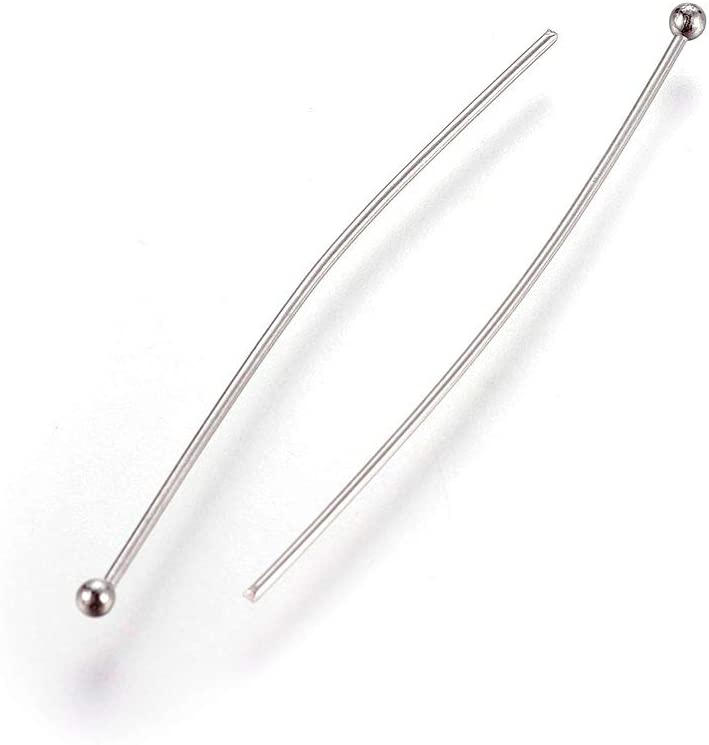 Fashewelry 500Pcs Stainless Steel Round Ball Point Head Pins 3//4 Inch 20mm for DIY Dangle Charm Jewelry Craft Making Pin 0.7mm