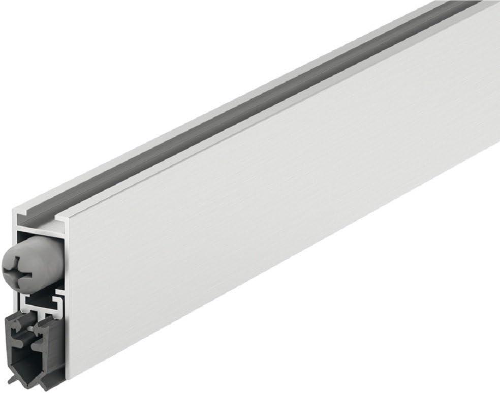 Gedotec Sello Bajo Puerta - Sello Automático para Sala, Baño, Dormitorio, Alquiler Corta Duración - Longitud 830 mm - Aislamiento - Cortavientos de Aire - Perfil Sellado Automático - Set de 1