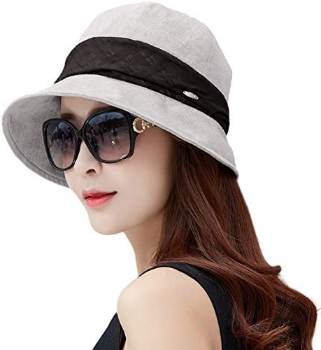 ec962dc0 SIGGI Womens UPF50+ Summer Sunhat Bucket Packable Wide Brim Hats w/Chin Cord