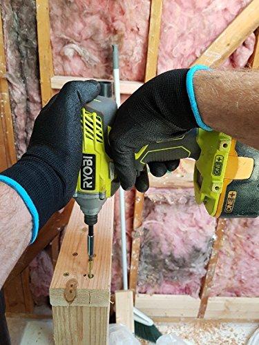 Grease Monkey Large Black Gorilla Grip Gloves (5-Pack)