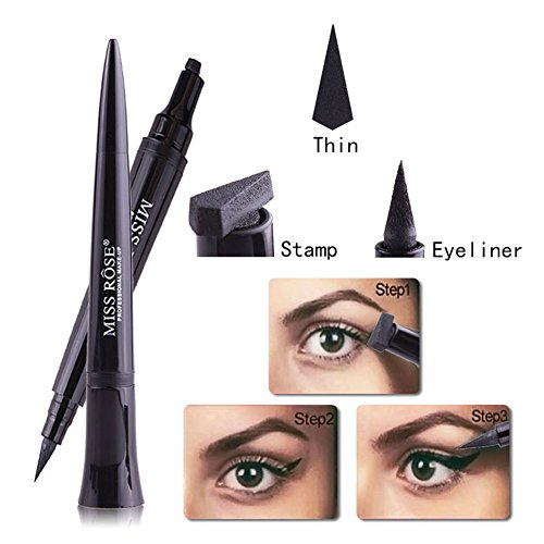 Eyeliner Stamp, Waterproof Liquid Eyeliner Pen Pencil Cat Eye Wing Eyeliner Stamps Set Easy to Makeup Tool (H01)