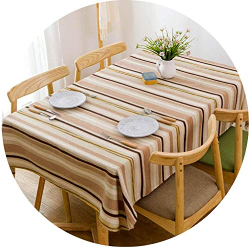 (Tablecloth Nordic Simple Modern Striped Table Cover Literary Living Room Coffee Table Cloth for Hotel Party)