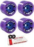 85mm Seismic Skate Systems Speed Vent BlackOps Longboard Skateboard Wheels with Bones Bearings - 8mm Bones Swiss Skateboard Bearings - Bundle of 2 items