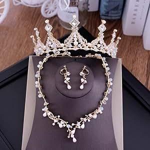 Amazon.com : Fashion Crystal Wedding Bridal Jewelry Sets