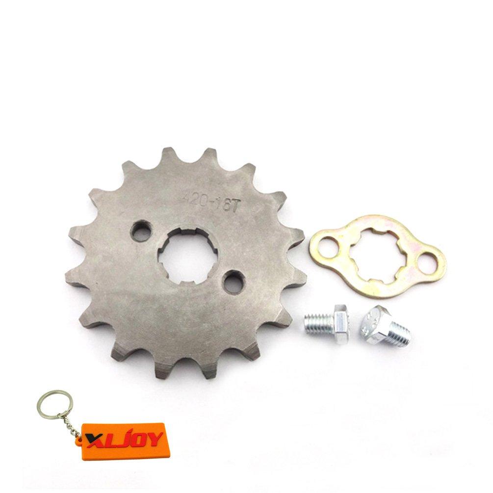 XLJOY 420 16T 17mm Gear Front Chain Sprocket Fits 50cc 70cc 90cc 110cc 125cc ATV Pit Dirt Bike