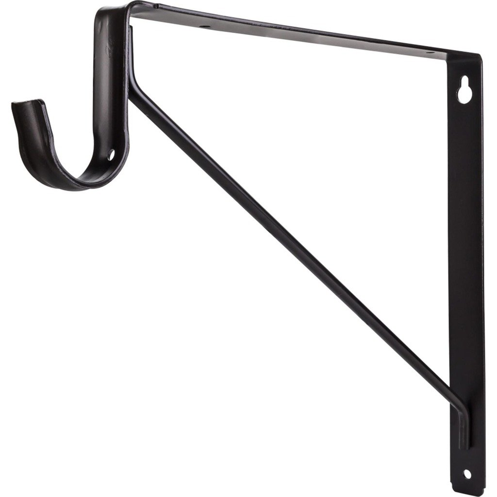 Hardware Resources 1516ORB Shelf and Rod Support Bracket, Oil Rubbed Bronze by Hardware Resources