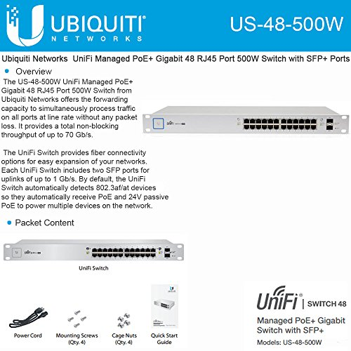Ubiquiti UniFi Switch - 48 Ports Managed (US-48-500W) by Ubiquiti Networks