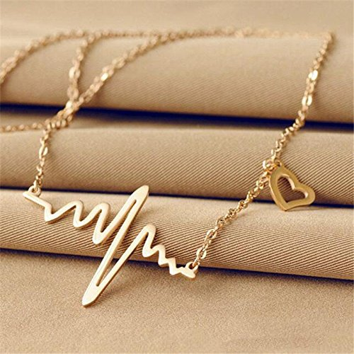 - Phonphisai shop Alloy Women Medical Doctor Nurse Heart Pendant Clavicle Chain Necklace Color Gold
