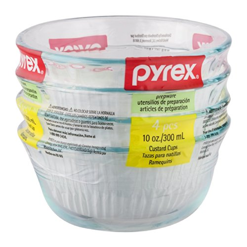 Pyrex 6001143 10 Oz. Dessert Dish 4 Pack