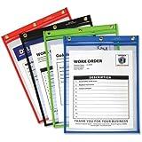 "C-Line Shop Ticket Holder, Hvy-Dty, 9""x12"", 20/BX, Ast/Clear"