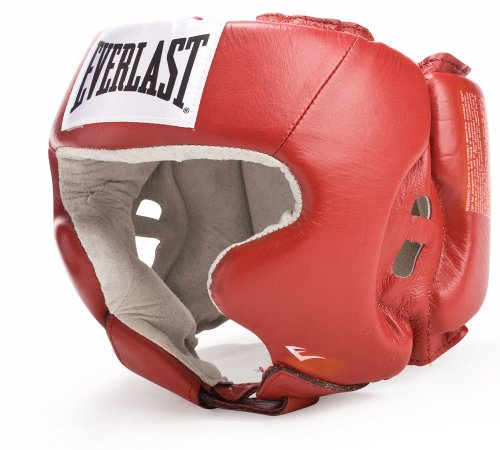 Everlast 620400 Amateur Head Gear with Cheeks Red L