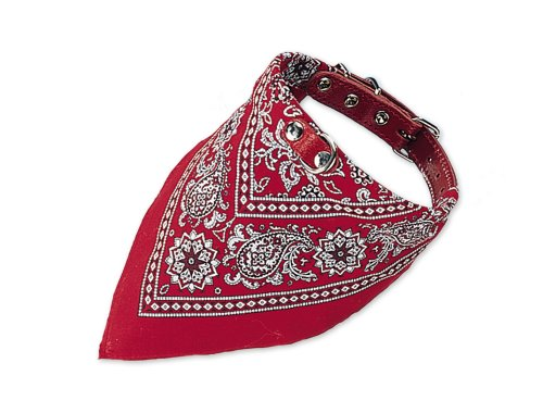 Nobby Halsband mit Tuch, rot, Länge 35 cm
