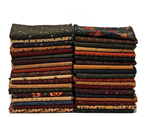 (10 Fat Quarters - Kansas Troubles by Moda Fat Quarter Bundle Calico Floral Flowers Classic Reproduction Style Quality Quilters Assorted Cotton Fabrics M228.05)