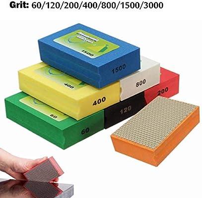 120 Grit Sanding Blocks Polishing Grinding Block Diamond Polishing Hand Pads Block For Granite Marble Glass Grinding 60-3000Grit