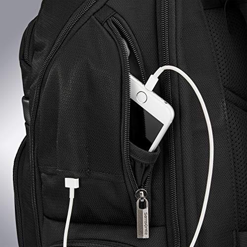 51OMCNANCML - Samsonite Tectonic Lifestyle Sweetwater Business Backpack, Black, One Size