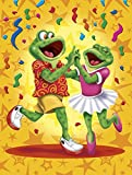 Caroline's Treasures APH3874GF Frog Swing Dancing Garden Flag, Small, Multicolor