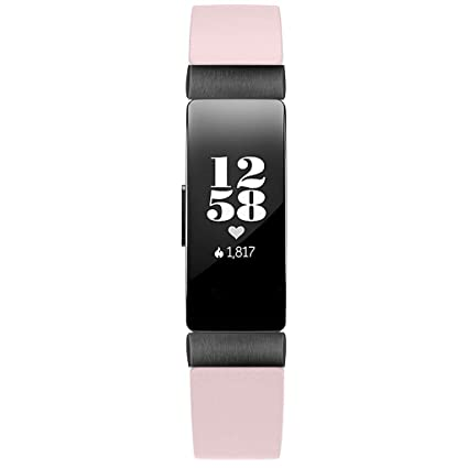 Amazon.com: Smart Watch Band Double Tour Leather Watch Band Strap Bracelet for Fitbit Inspire/Inspire HR Banda de reloj inteligente (Pink): Car Electronics