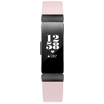 Amazon.com: Smart Watch Band Double Tour Leather Watch Band Strap Bracelet for Fitbit Inspire/Inspire HR Banda de reloj inteligente (Pink): Car Electronics