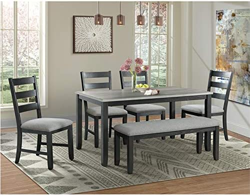 Marvelous Picket House Furnishings Kona Gray 6Pc Dining Set Machost Co Dining Chair Design Ideas Machostcouk