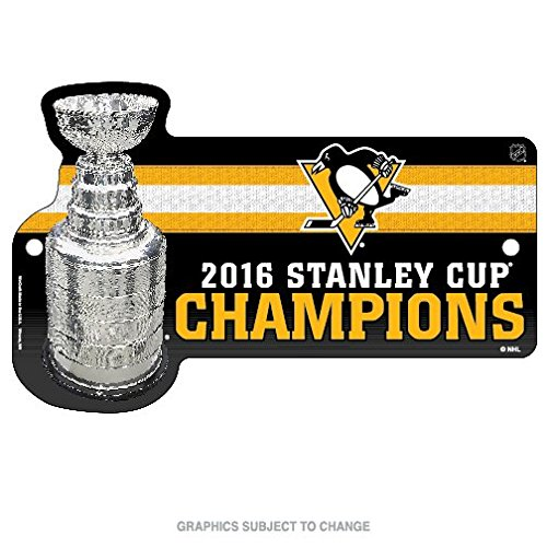 Pittsburgh Penguins Champions Official NHL 2016 Stanley Cup Street Wall Sign Champs Wincraft 646996