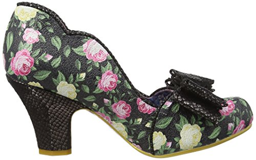 Irregular Choice Damen Deco Dreams Pumps Black (Black Floral)