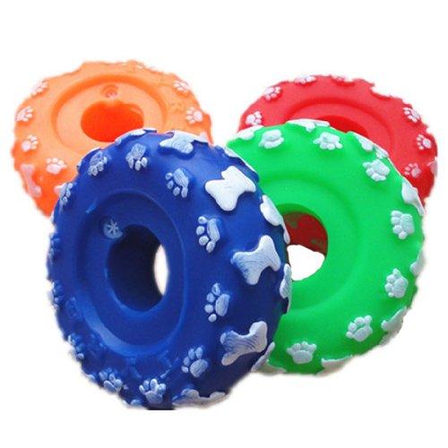 DGI MART Pet Tools Cute Pet Companion Pet Toy Rubber Mini Wheel with Sould Module Good for Pet's Dental Health(Send by Random Colour)