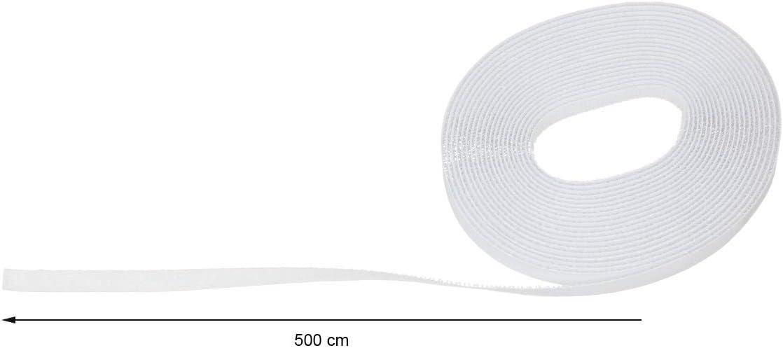 ECD Germany Klettband f/ür Fliegengitter selbstklebend Schwarz 5m x 1cm Hakenband und Flauschband Insektenschutz Befestigungsband Insektenschutzgewebe Klebeband