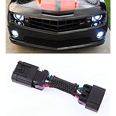 Muzzys DRL Adapter FOR 2010-2013 Chevrolet Camaro DRL + Headlights + Halos Harness Plug and Play Adapter Kit, Gain Control of your Daytime Running (Fog) Lights!: Automotive