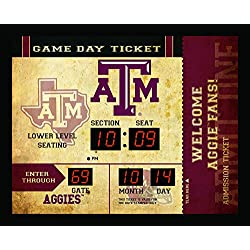 Team Sports America NCAA Bluetooth Scoreboard Wall Clock, Texas A&M Aggies