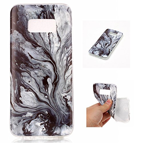 Galaxy S8 Case, Glossy Marble Pattern Slim Hard Soft Silicone Back Case Cover Fit for Samsung Galaxy S8