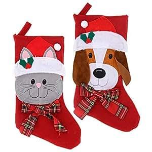 "Amazon.com: Christmas Stockings 2 Pet 18"" Decorations"