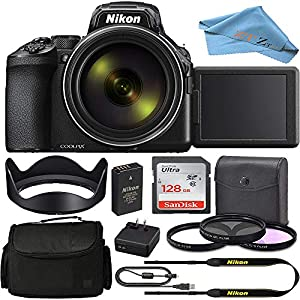 Nikon COOLPIX P950 Digital Camera 26532 w/ 83x Optical Zoom Lens and SanDisk 128GB Memory Card and 3 Pcs Multi Coated…