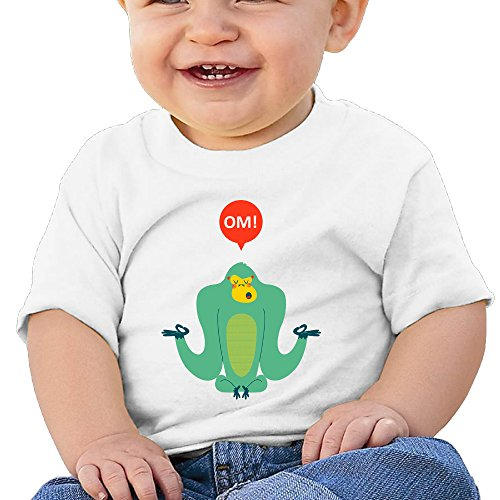 Price comparison product image Boss-Seller Om! Short-Sleeve T Shirts For 6-24 Months Boys & Girls Size 18 Months White