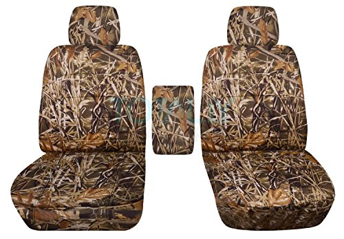 Totally Covers Fits 2009-2014 Ford F-150 Camo Truck Bucket Seat Covers with Center Armrest: Wetland Camouflage (16 Prints) 2010 2011 2012 2013 F-Series F150 - 2009 Camo