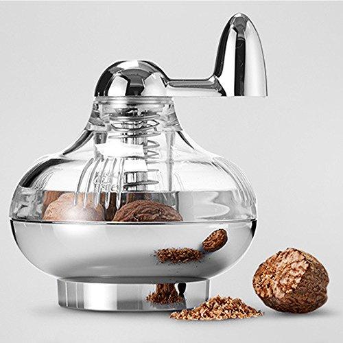 TAMUME Moulin Muscade Avec des Lames en Acier Inoxydable pour Noix de Muscade Fraîche pour les Plats Moulin à épices