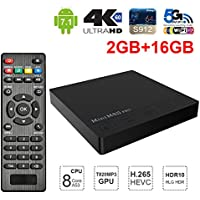 Sawpy MINI M8S PRO-C Smart tv box Android 7.1 Amlogic S912 2GB+16GB BT 4.0 2.4/5 Dual-Band WiFi 4K UHD & LAN VP9 DLNA H.265