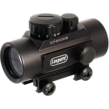 Leapers Golden Image 38mm Red/Green Dot Sight, Integral Weaver Mount (SCP-RD40RGW)