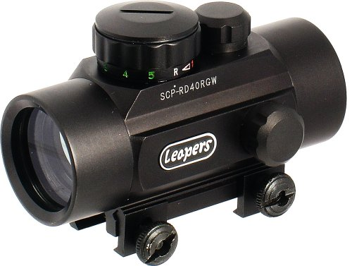 Leapers Golden Image 30mm Red/Green Dot Sight, Integral Weaver Mount (SCP-RD40RGW), Outdoor Stuffs
