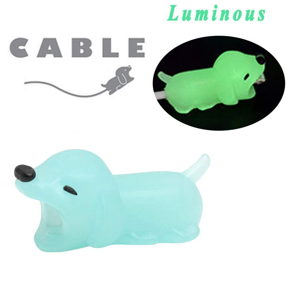 Holeider Telefon-Ladekabel schützt Zubehör Tier Cute Handyhülle Kabel Biss für iPhone Kabel Schnur Handy-Ladeleitung Schützt vor Biege-Pause (AA)