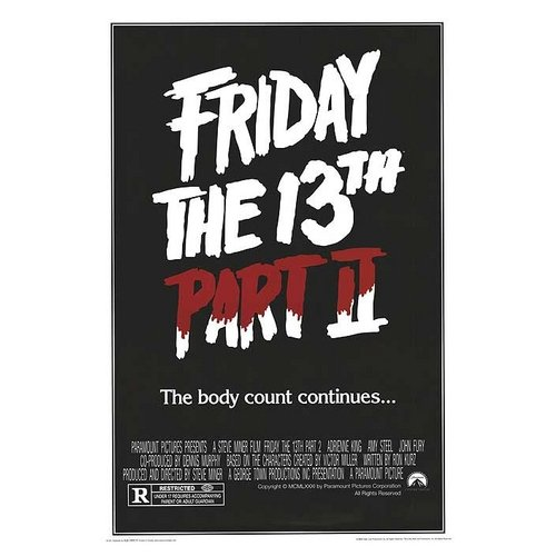 """Friday the 13th Part 2 Movie Poster, 24"""" x 36"""""""