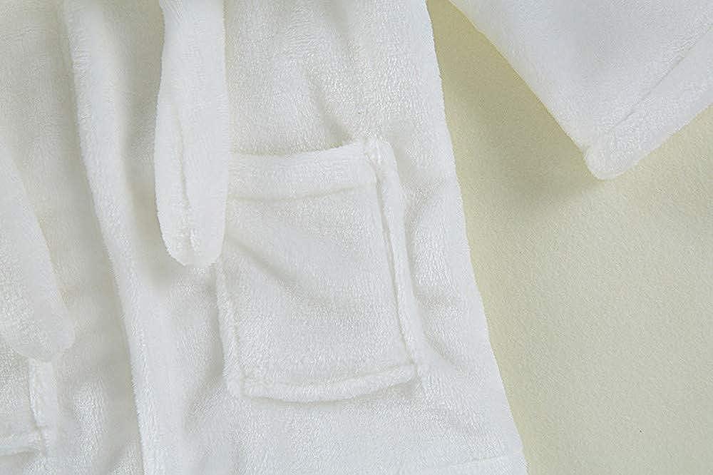 OverDose Damen Kleinkind Kinder Baby Feste Nette Licht Absorbent Bademantel Baumwolle Pl/üsch Mit Kapuze Bademantel Handtuch Schlafanzug