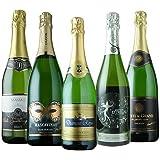 シャンパン製法&金賞入り!神の雫掲載&7ツ星ホテル採用など破格のスパークリングワイン5本セット 第8弾 スパークリングワインセット