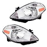 Pair Set Halogen Combination Headlights Headlamps Replacement for Nissan Versa 26060-EM30A 26010-EM30A