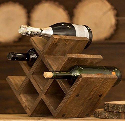 oak wine rack rustic wine rack wood wine holder fathers gift wine cube rustic wine rack tabletop wine rack wooden wine rack