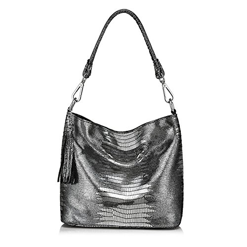 women handbags genuine leather crossbody shoulder bags hobos bag animal prints totes Anti-silver