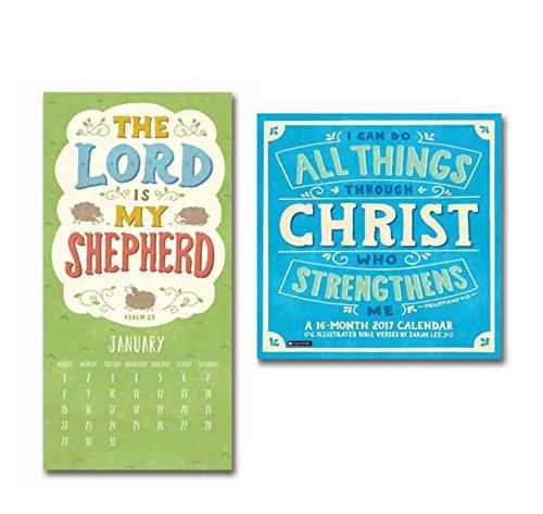 Orange Circle Studio 16-Month 2017 Wall Calendar, I Can Do All Things Through Christ (51186)