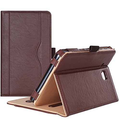 Procase Galaxy Tab A 7.0 Case - Stand Folio Case Cover for Galaxy Tab A 7.0 SM-T280 SM-T285 Tablet, with Multiple Viewing Angles, Document Card Pocket (Brown)
