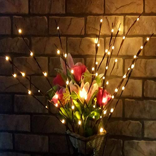 Ladiy 20 LED Bulb Branch Lights for Vases, Willow Branch Lights Indoor, Decorative Indoor Lights for Home Party - Battery Indoor String Lights