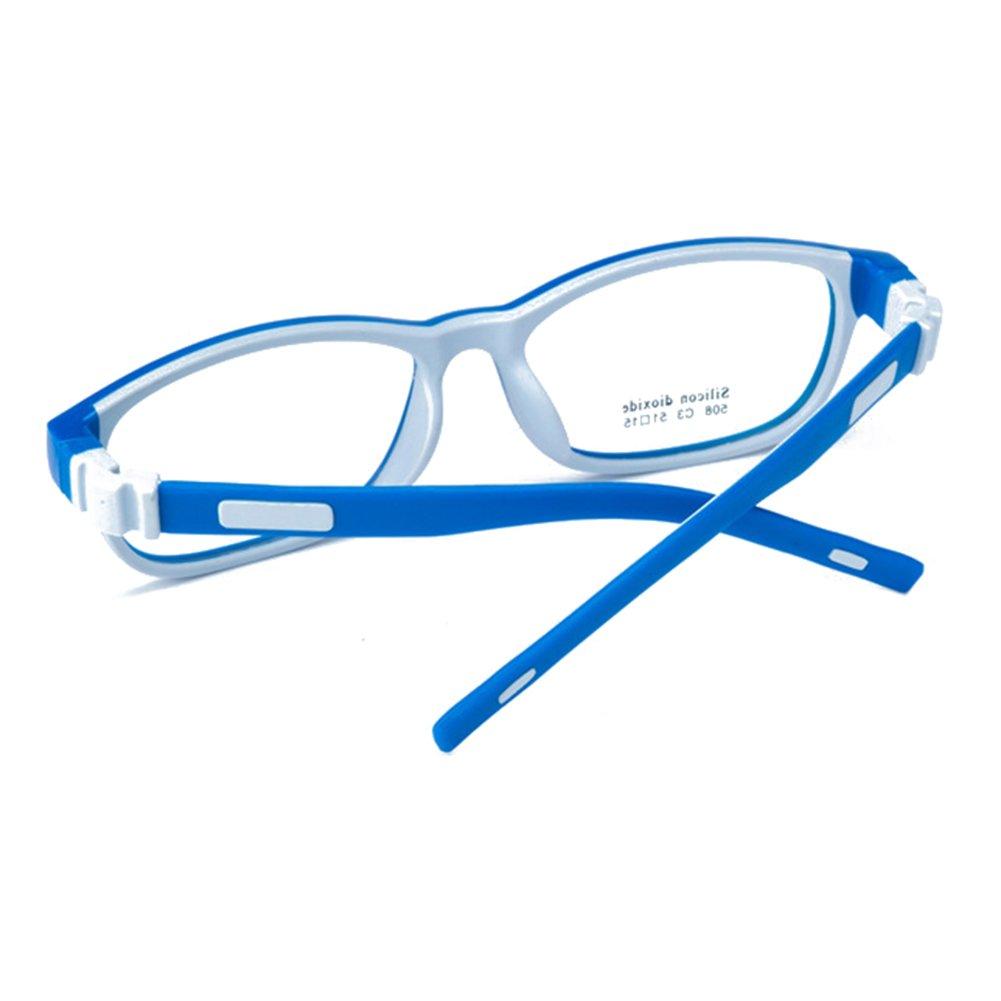 22427306a7e83 Juleya Juleya Kinder Gläser Rahmen - Silikon - Kinder Brillen Clear Lens  Retro Reading Eyewear für Mädchen Jungen Brillenfassungen: Amazon.de:  Bekleidung