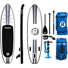 """iRocker Inflatable ALL-AROUND Stand Up Paddle Board 11' Long 32"""" Wide 6"""" Thick SUP Package"""
